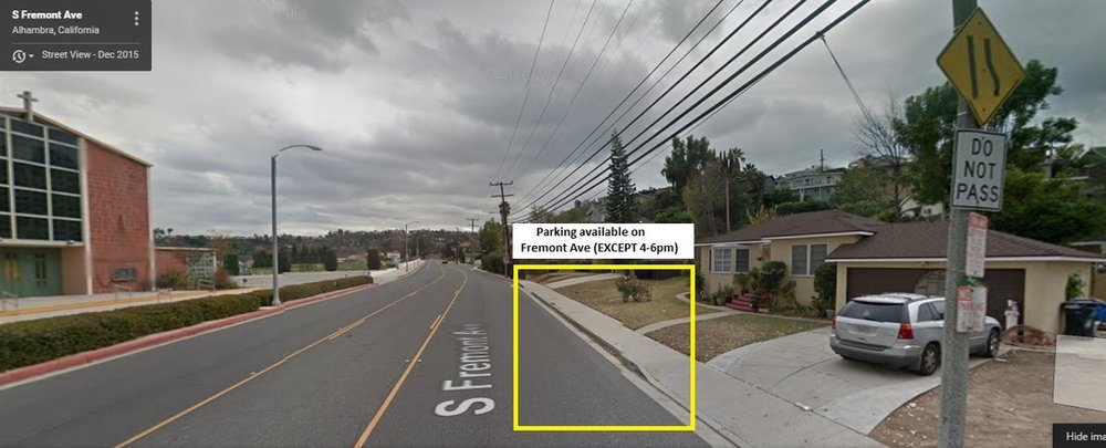 Street view of parking on FREMONT AVE