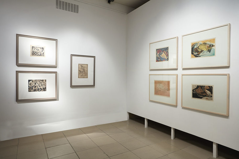 Installation view, works by Safiuddin Ahmed. Courtesy of Ahmed Nazir Collection. Photo courtesy of the Dhaka Art Summit and Samdani Art Foundation. Photo credit: Jenni Carter