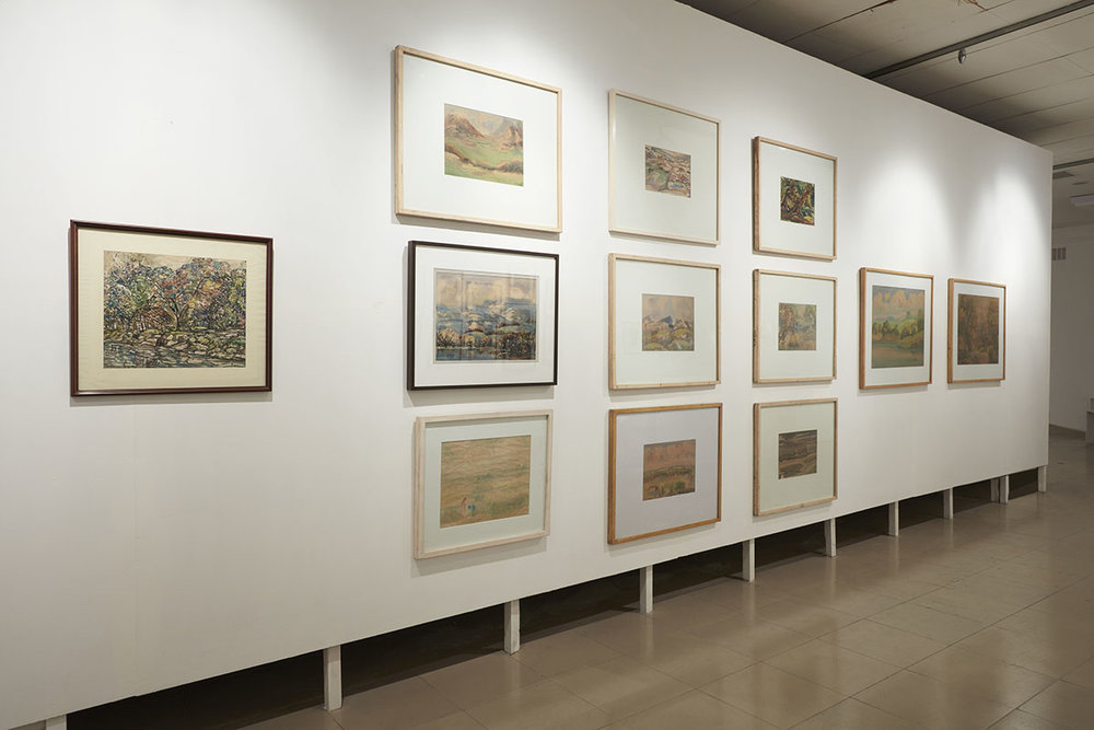Installation view, works by S. M. Sultan. Courtesy of the Samdani Art Foundation Collection, the Bangladesh National Museum, Farooq Sobhan Collection and Enam A. Chaudhury Collection, Dhaka. Photo courtesy of the Dhaka Art Summit and Samdani Art Foundation. Photo credit: Jenni Carter