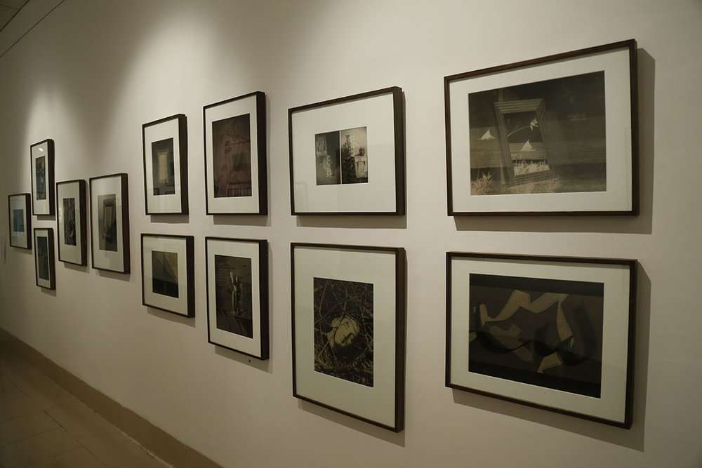 Installation view, works by Lionel Wendt. Courtesy of Jhaveri Contemporary, Mumbai and Mahijit Singh and Nalin Tomar, New Delhi. Photo courtesy of the Dhaka Art Summit and Samdani Art Foundation. Photo credit: Noor Photoface