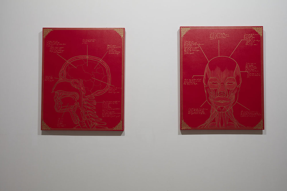 Tenzing Rigdol,  Monologue,  2014. Courtesy of the artist and Rossi and Rossi. Photo courtesy of the Dhaka Art Summit and Samdani Art Foundation. Photo credit: Jenni Carter