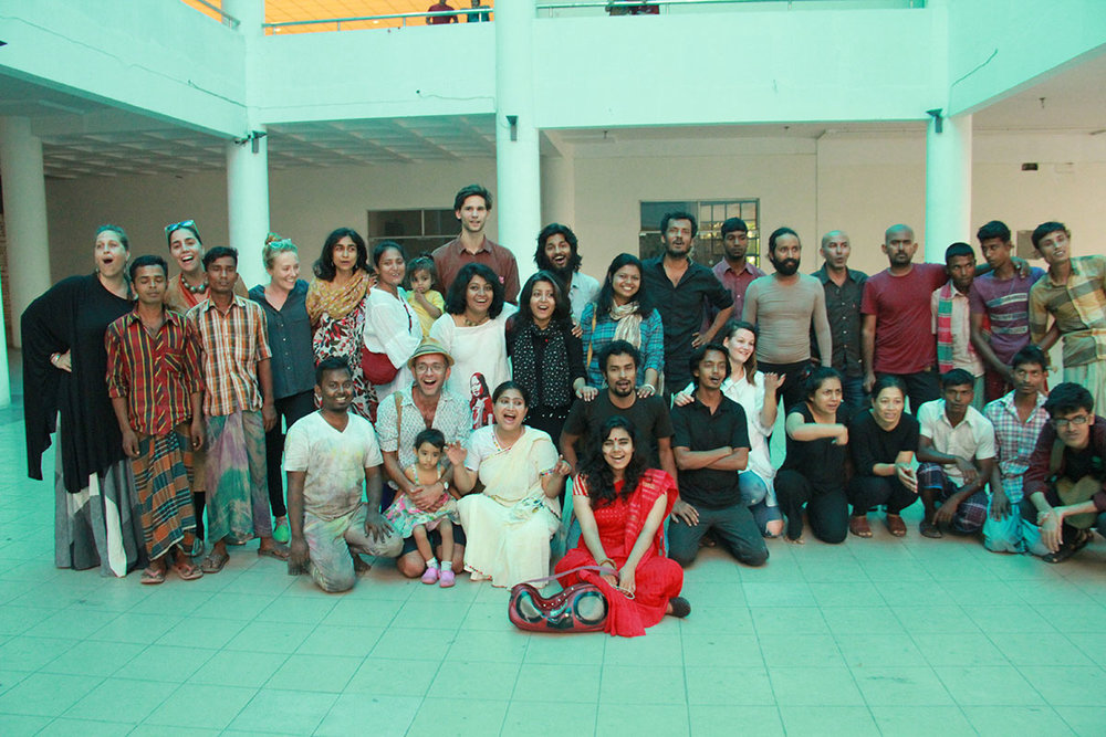 Performance workshop with Nikhil Chopra, Madhavi Gore and Jana Prepeluh, Samdani Seminars 2015. Courtesy of the Samdani Art Foundation. Photo credit: Nirmal Adhikari