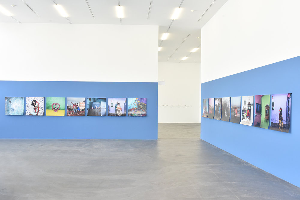 Samsul Alam Helal's Runaway Lovers (2016-2017) series on display at Kunsthalle Zürich exhibition 'Speak, Lokal'  Image Courtesy: Samsul Alam Helal and Kunsthalle Zürich