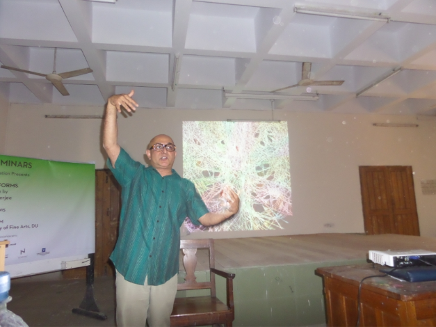 Painting Performs - A Presentation by Sandeep Mukherjee, Samdani Seminars 2015. Courtesy of the Samdani Art Foundation.