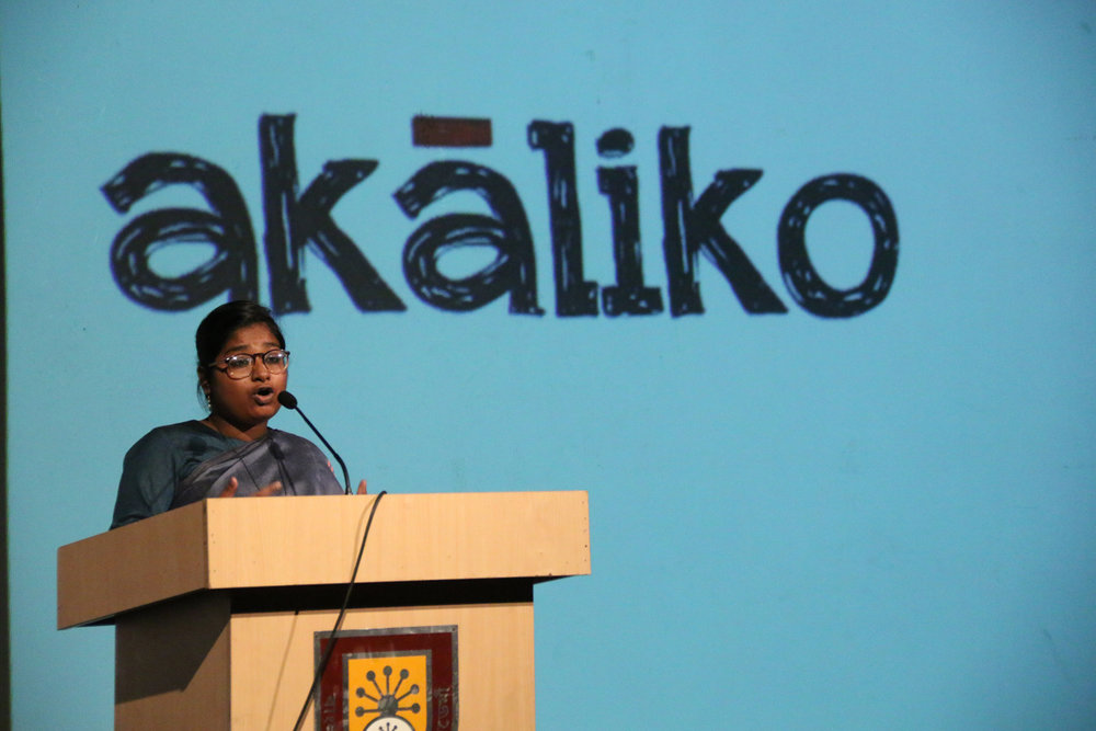 Akaliko presenting at the Samdani Artist Led Initiatives Forum. Photo credit: Noor Photoface