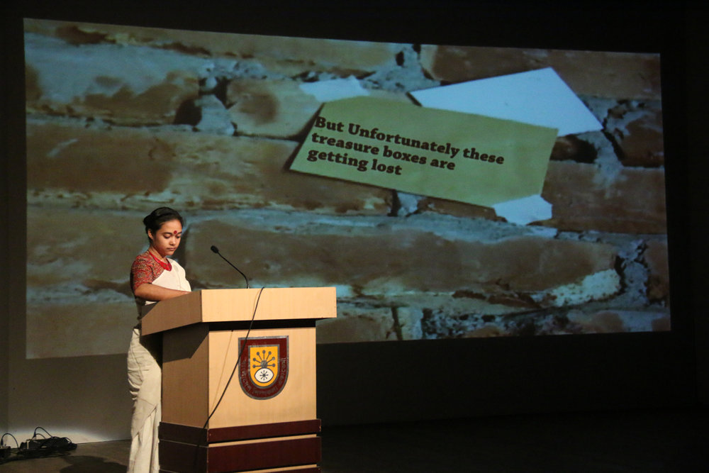 Uronto presenting at the Samdani Artist Led Initiatives Forum. Photo credit: Noor Photoface