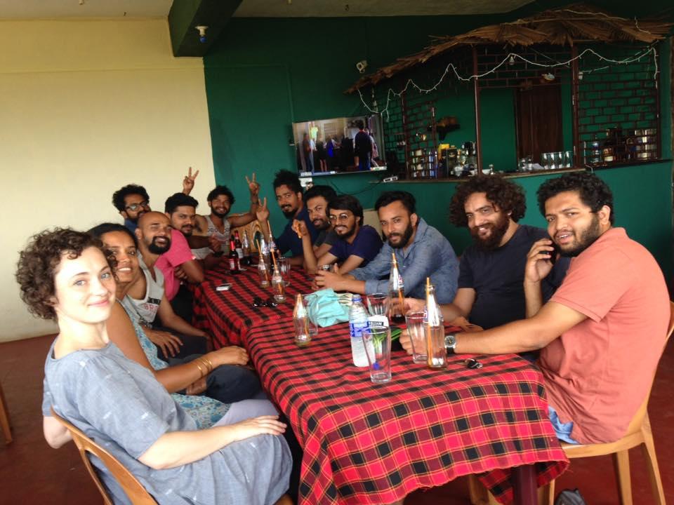Resident artists enjoying time together, image courtesy Marzia Farhana