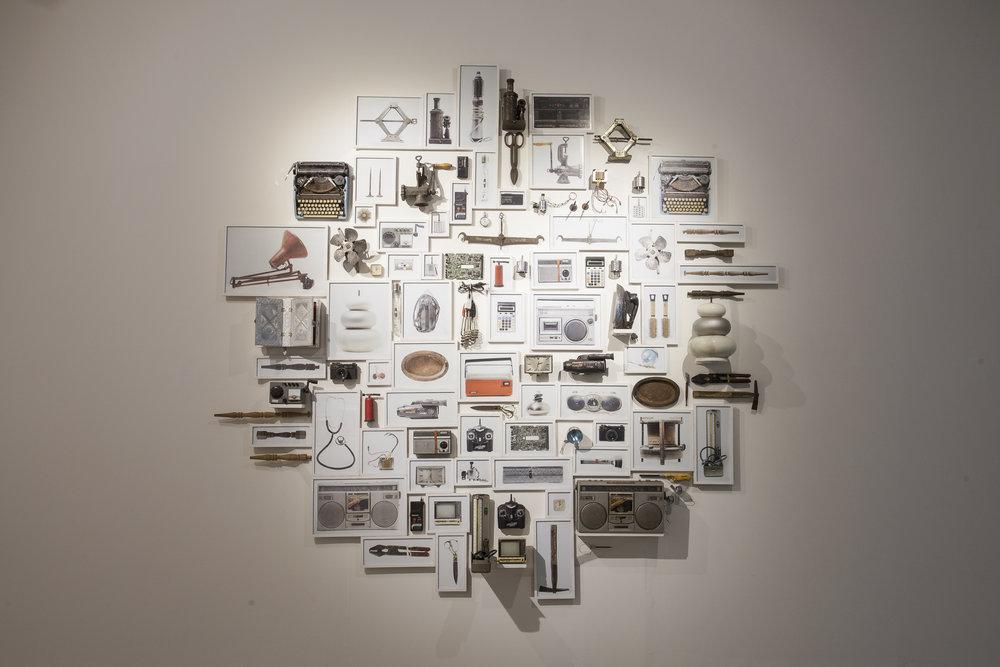 Minhaz Marzu, Obsolete (installation view), 2016-2017
