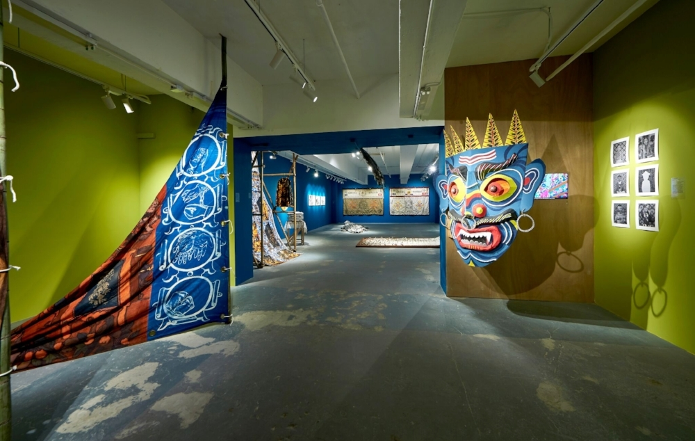Installation image of  A beast, a god, and a line at  Para Site, Hong Kong. Photo credit: Eddie Lam, Image Art Studio.
