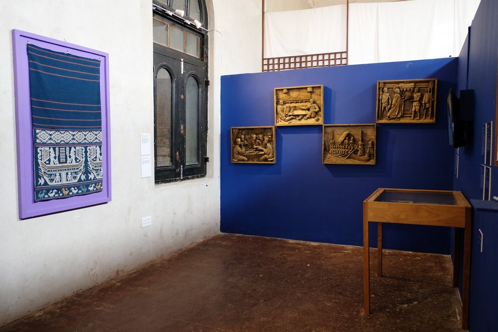 Installation image of  A beast, a god, and a line  at TS1, Yangon. Courtesy of TS1. Photo credit: Pyinsa Rasa.
