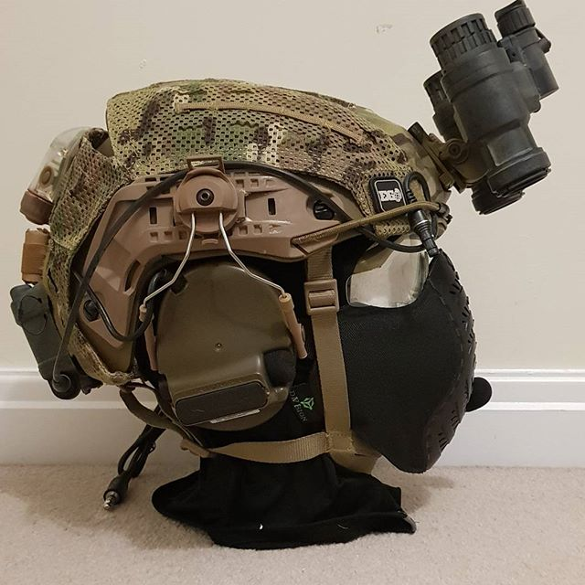 Someone buy this helmet setup still for sale £240 UK only due to size and weight.  #mattthemusketeer #youtube #airsoft #airsoftuk #milsim #milsimuk #ukairsoftcommunity #milsim #airframe #coldspear