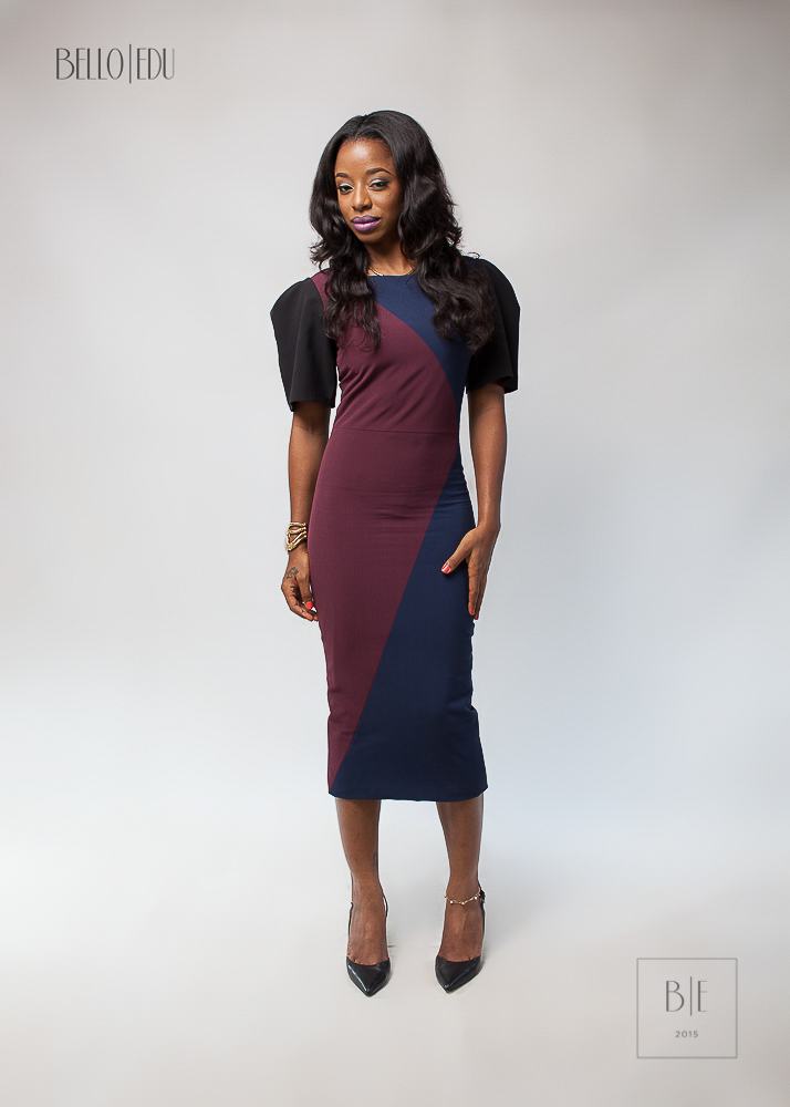 Stylish Dress in Stretched Crepe