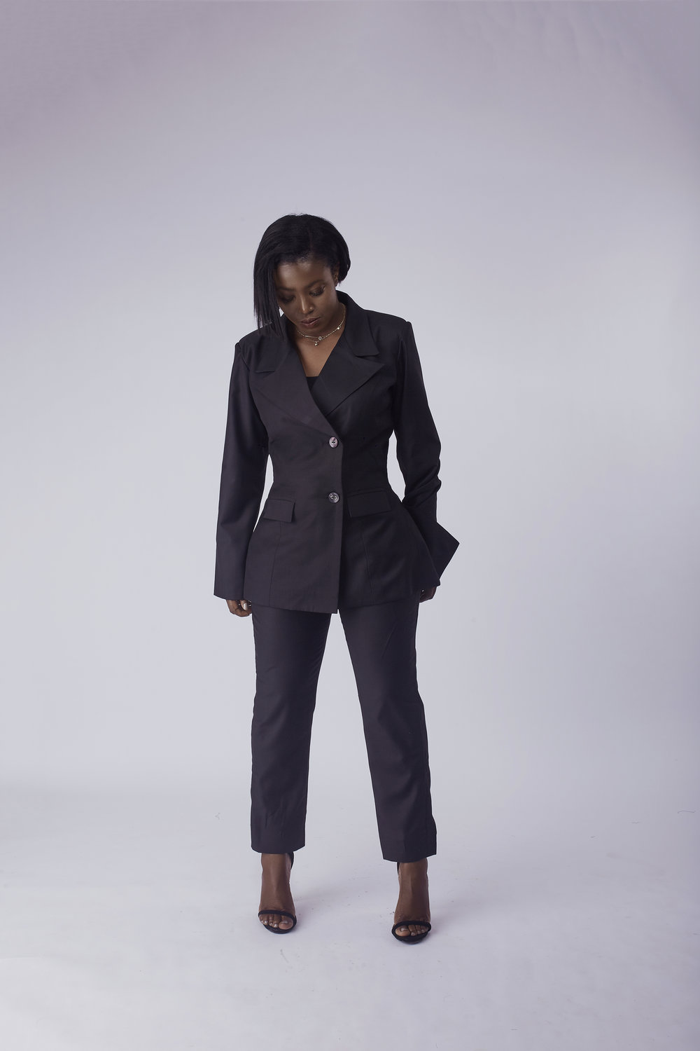 Blazer with Straight Leg Pants