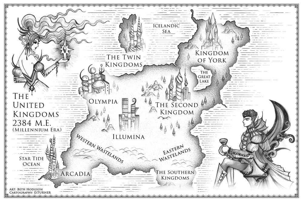 Future Punk Fantasy Book Map