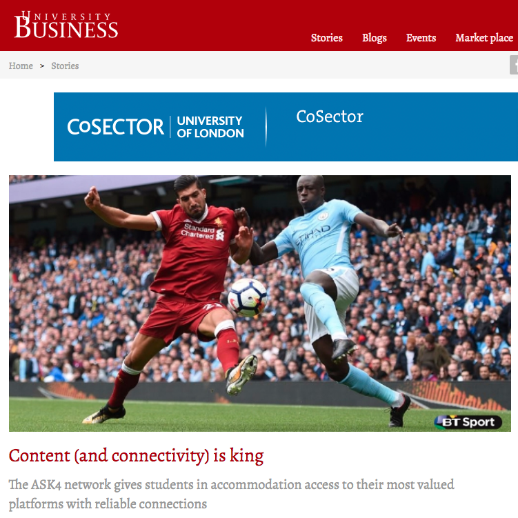 19 October 2017  University Business: Content (and connectivity) is king   > go to story