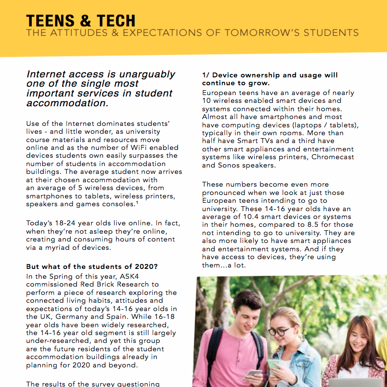 16 November 2017 The Class of 2020 Annual Trends Report: Teens and Tech > go to story