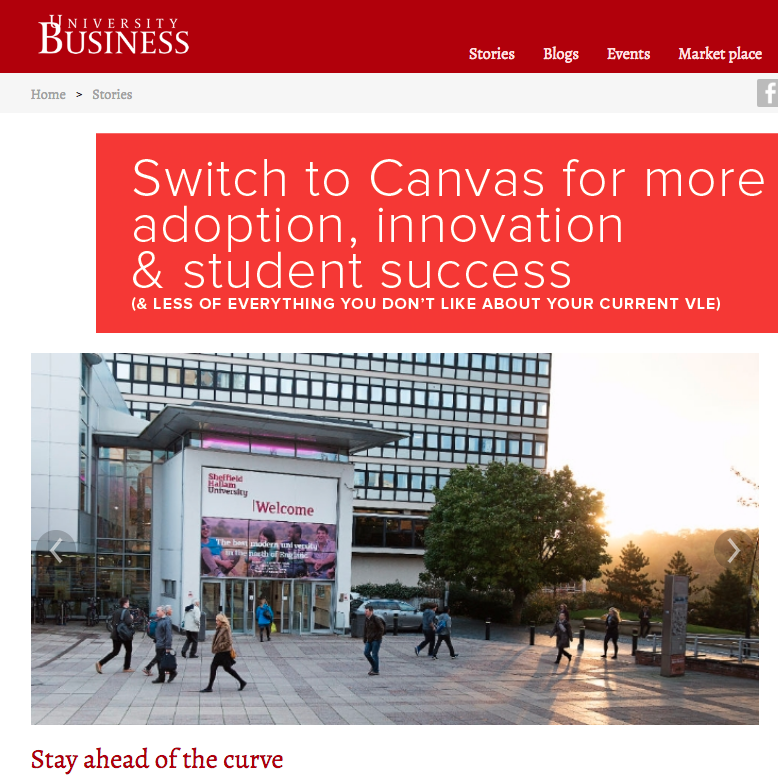 10 June 2016  University Business: Stay ahead of the curve   > go to story