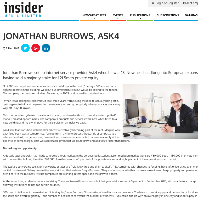 2 December 2015 Insider Media: Jonathan Burrows, ASK4 > go to story