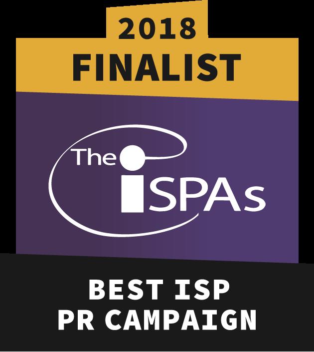 Best ISP PR Campaign finalist 2018