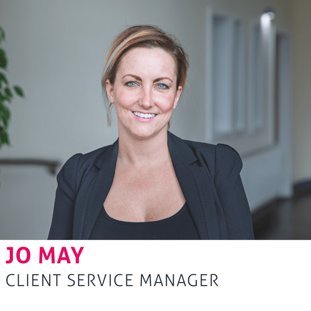 Jo May, Client Service Manager
