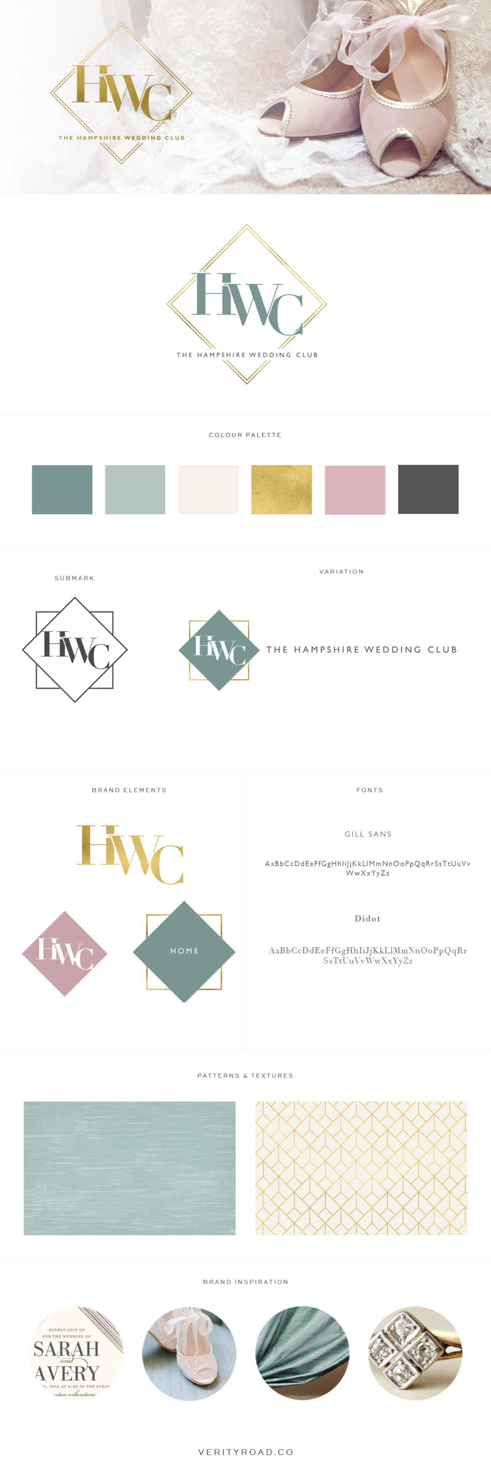 Brand board for wedding professionals, wedding suppliers photographers, wedding business branding, wedding planners, florists, luxury branding, feminine branding and web design for female entrepreneurs, business branding, logo design, brand elements typography, DUSTY ROSE, TEAL, gold, color palette, luxury wedding, business owner, watercolor, brand style guide.
