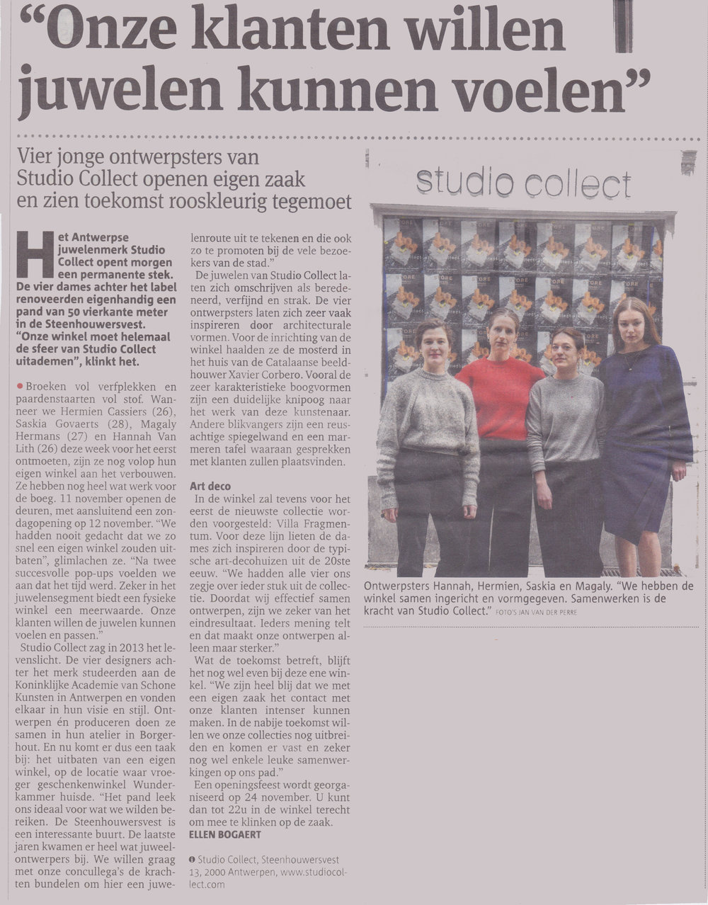 Gazet van Antwerpen - November 2017