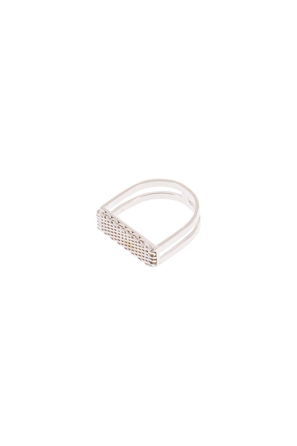 f9d0d0c473 textured u shaped ring — Studio Collect