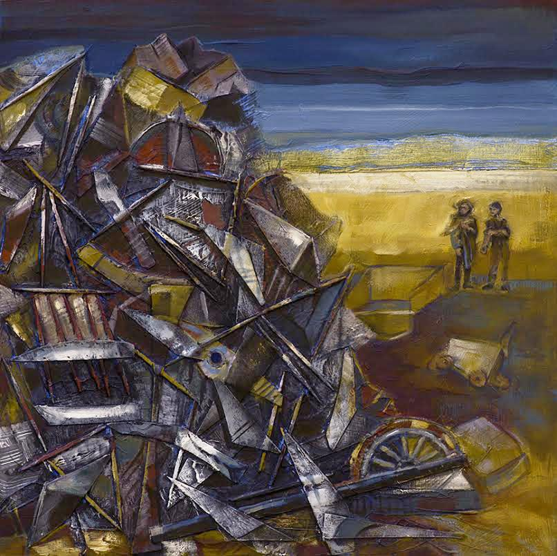 The Observers Assess the Whole (Psychological) Disaster - Oil by   Kim Schrag