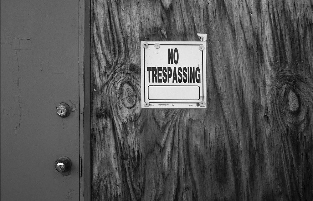 No Trespassing - 2 - BandW.jpg