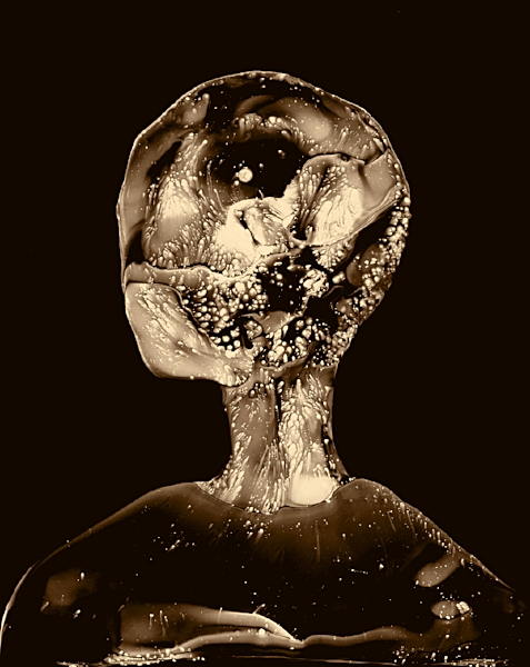 The Mind Is Infinite   Print from a Sumi ink painting on glass