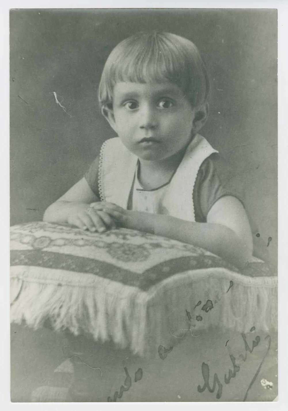 García at age 2 (photo:    UT Austin   )