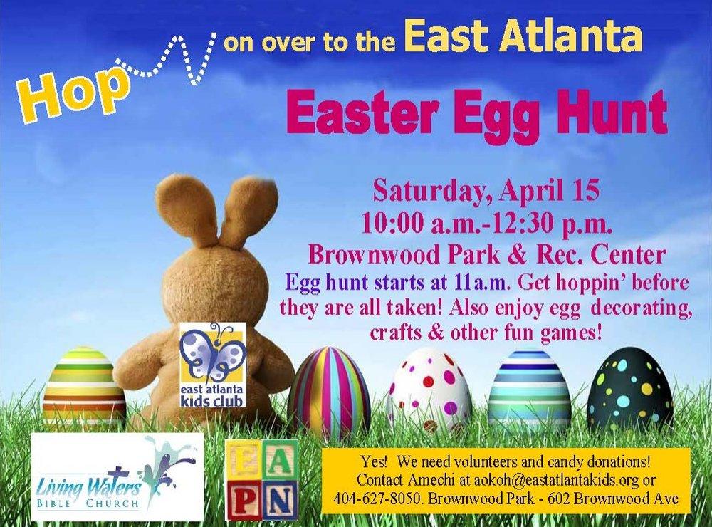 East Atlanta Kids Club Easter Egg Hunt April 2017