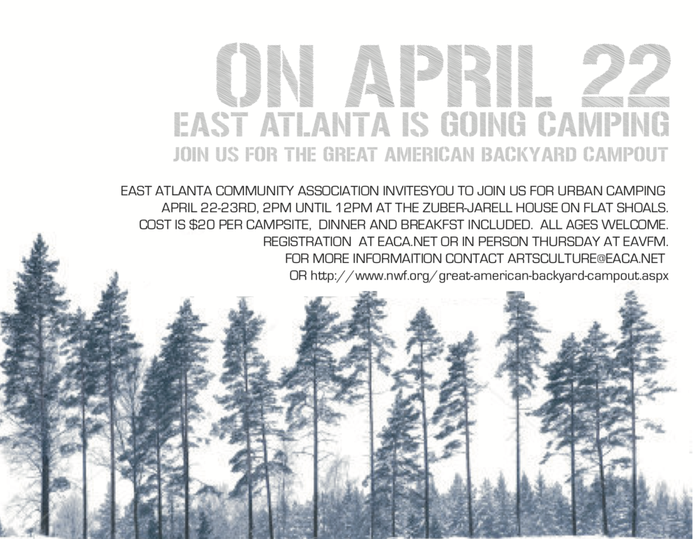 East Atlanta Great American Campout April 22 2017