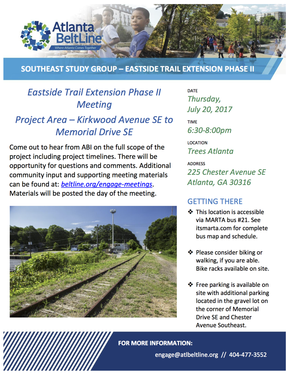 Atlanta Beltline Southeast Study Group 7/20/2017