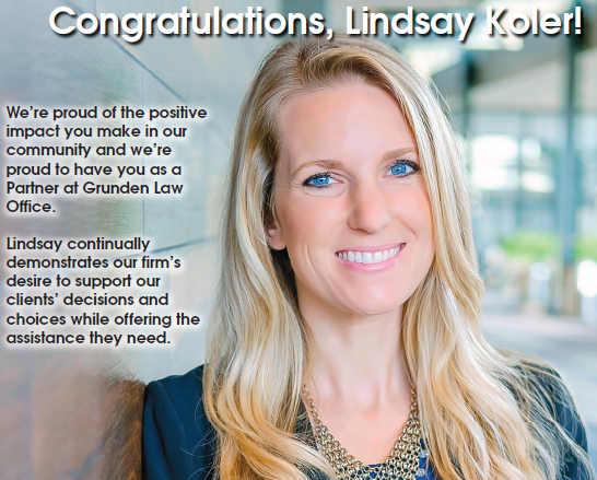 Lindsay was named one of Greater Business Weekly's 40 Under 40 for 2017