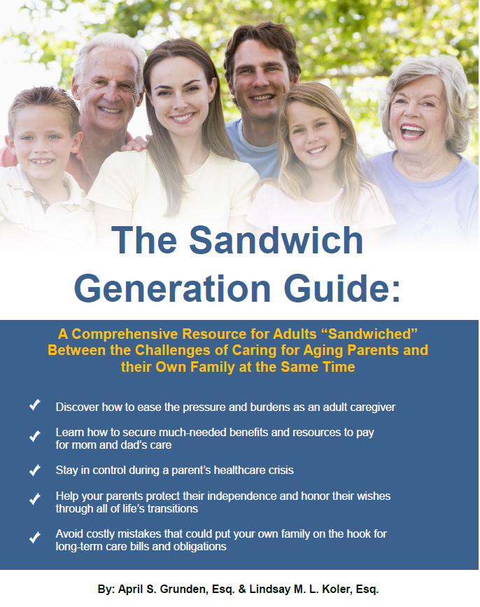 Are you part of the Sandwich Generation?  Get our FREE e-book full of helpful information and resources. Click here to get yours!