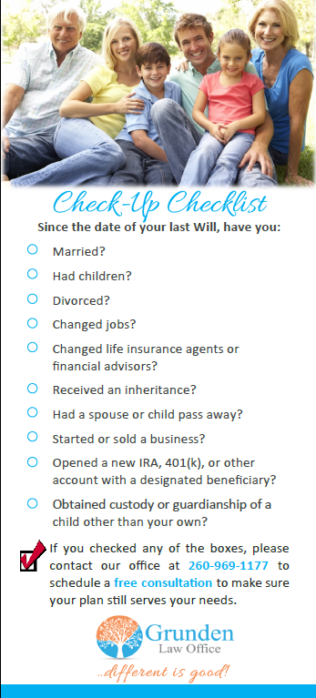 Estate Planning Check-Up Checklist