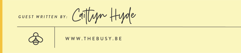 The Busy Bee Author Profile Caitlyn Hyde