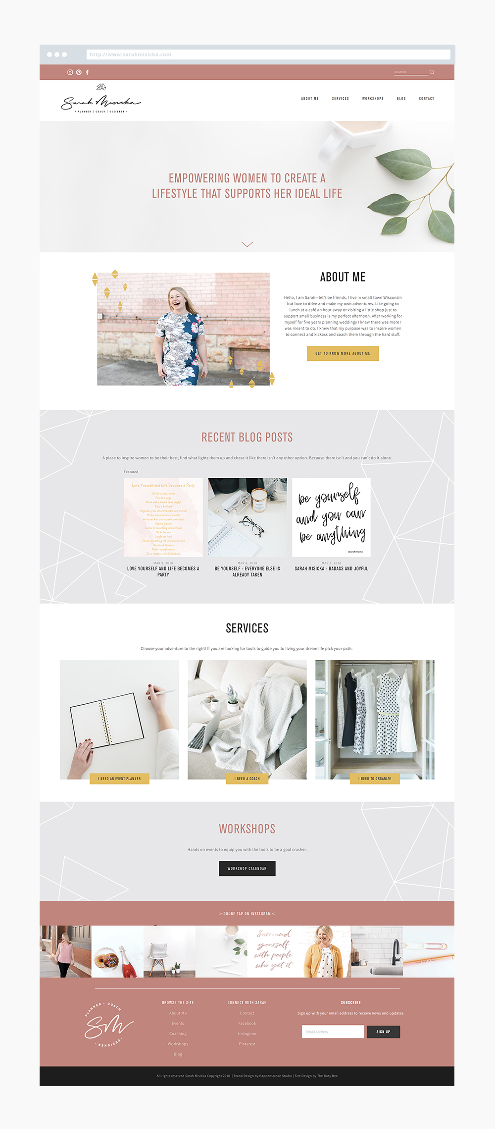 The Busy Bee Megan Baylerian Squarespace Website Sarah Misicka