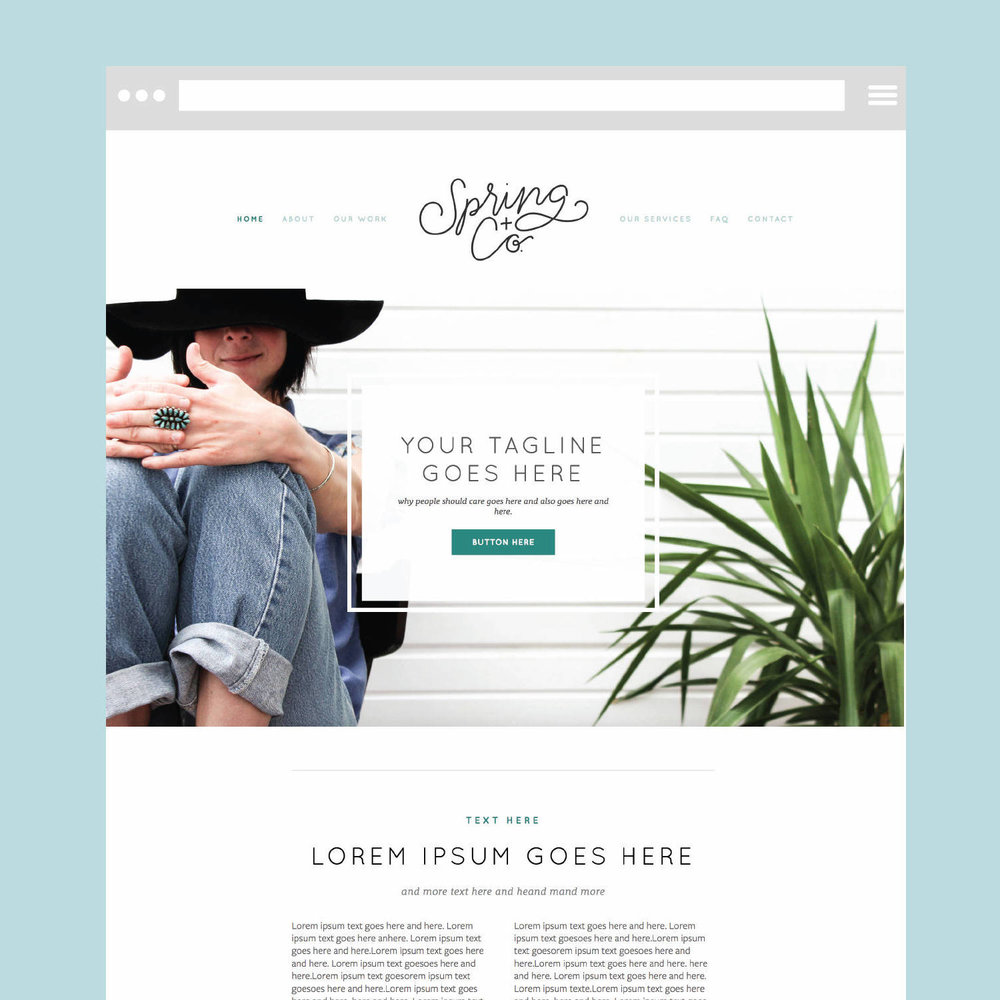 Enter To Win A Free Squarespace Template The Busy Bee