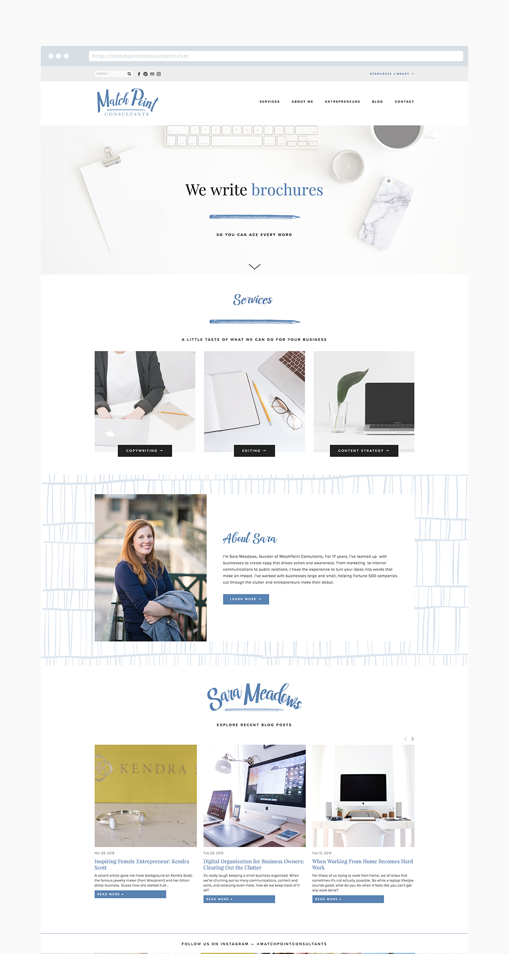 The Busy Bee Portfolio Custom Squarespace Website Match Point Consultants