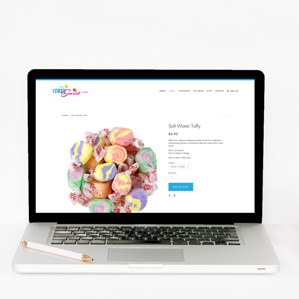 The Busy Bee Portfolio Custom Squarespace Website Crazy Sweet Laptop