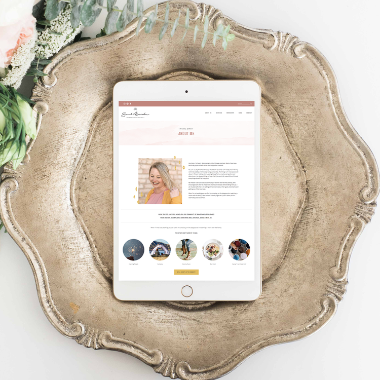 The Busy Bee Portfolio Custom Squarespace Website Sarah Misicka Tablet