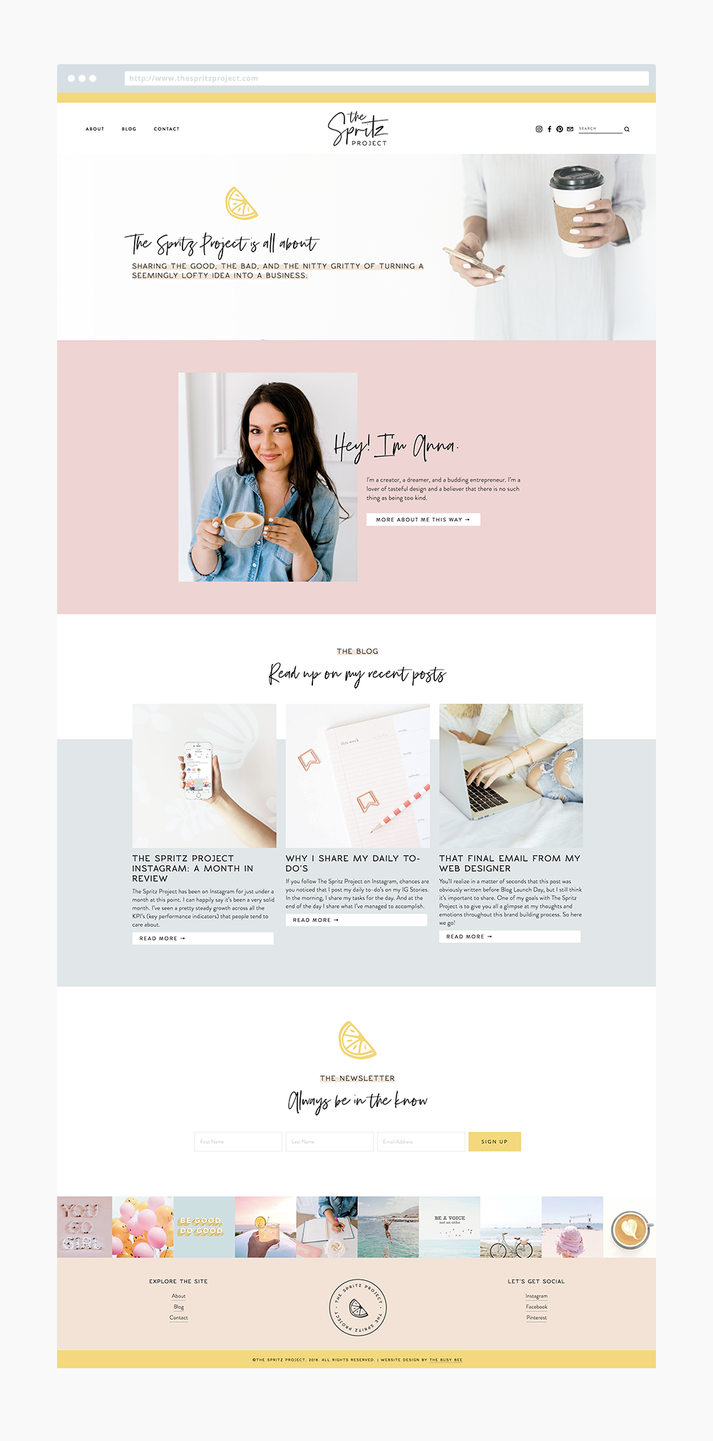 The Busy Bee Portfolio Custom Squarespace Website The Spritz Project