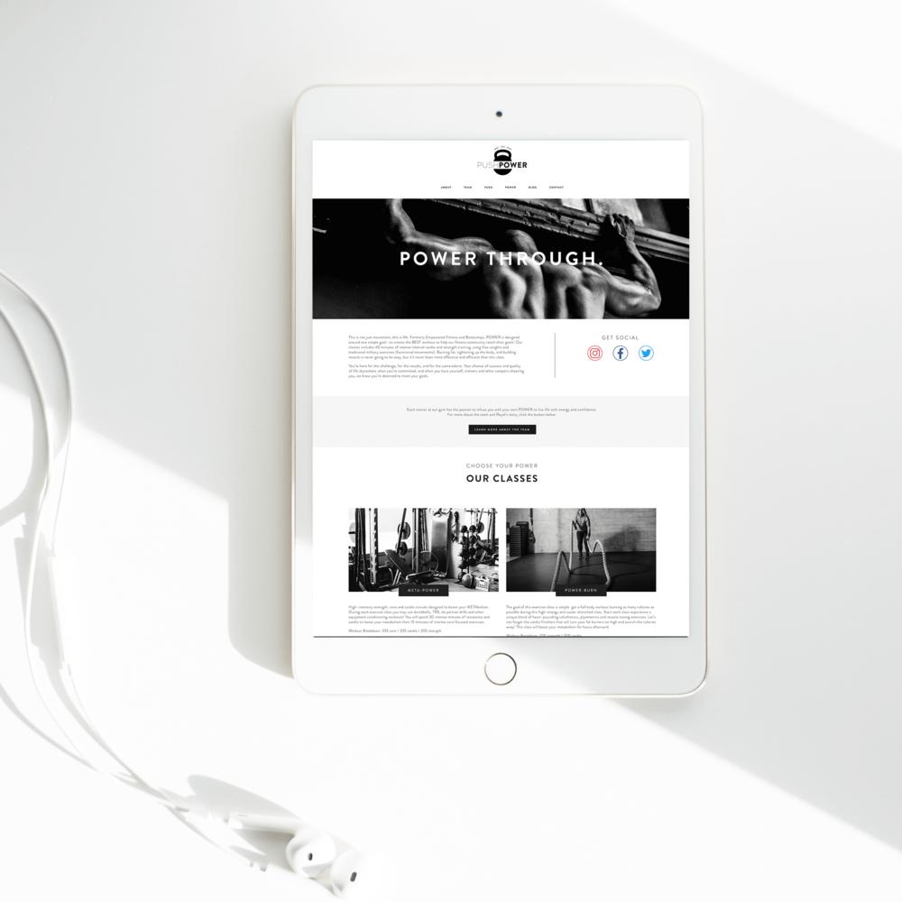 The Busy Bee Portfolio Custom Squarespace Website Push Power MKE Tablet