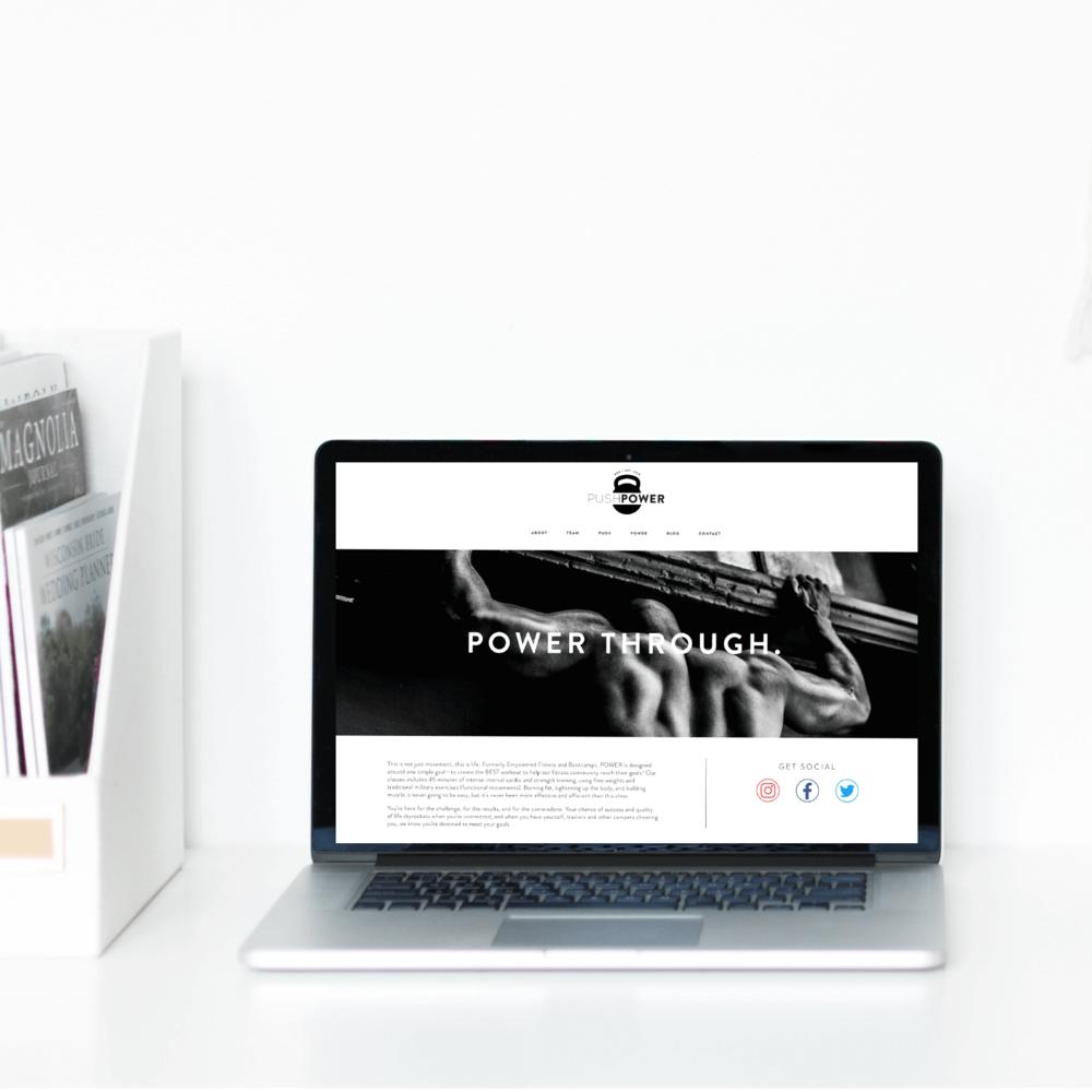 The Busy Bee Portfolio Custom Squarespace Website Push Power MKE Laptop