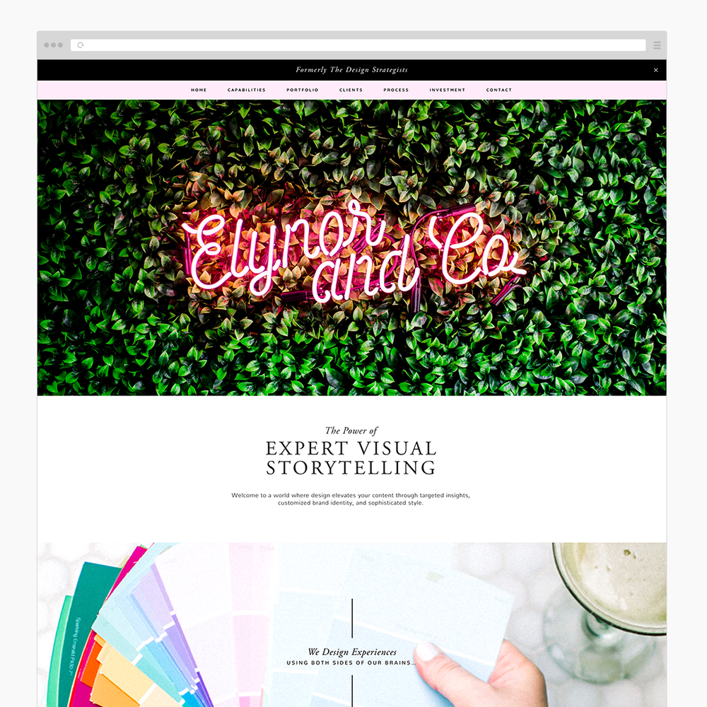 The Busy Bee Portfolio Custom Squarespace Website Elynor & Co