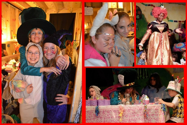 "Pictures from our 2013 troupe performing ""Alice in Wonderland"""