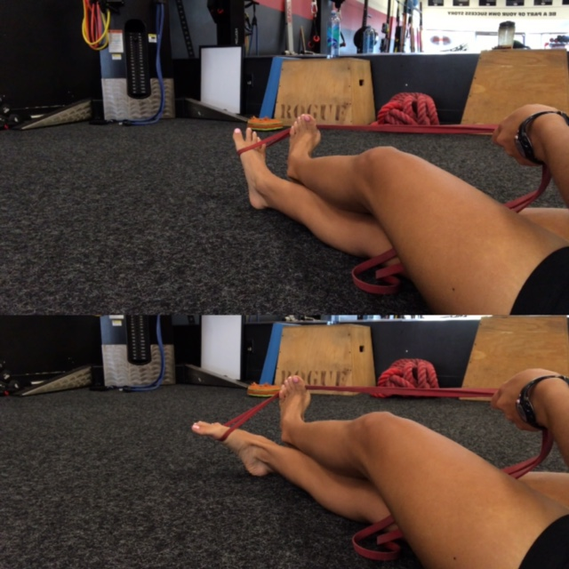Figure 2: Ankle Inversion with Band 3x25 , 10 sec holds.