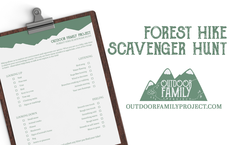 free forest hike scavenger hunt printable